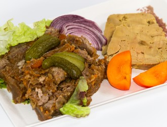 Terrine de joue de bœuf et foie gras